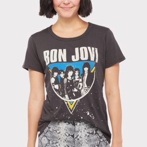 NWT Chaser Bon Jovi cotton graphic Tee